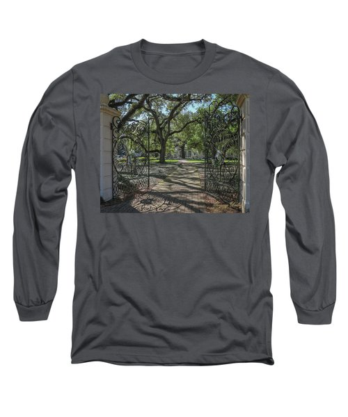 Entrance Gate To Ul Alum House Long Sleeve T-Shirt by Gregory Daley  PPSA