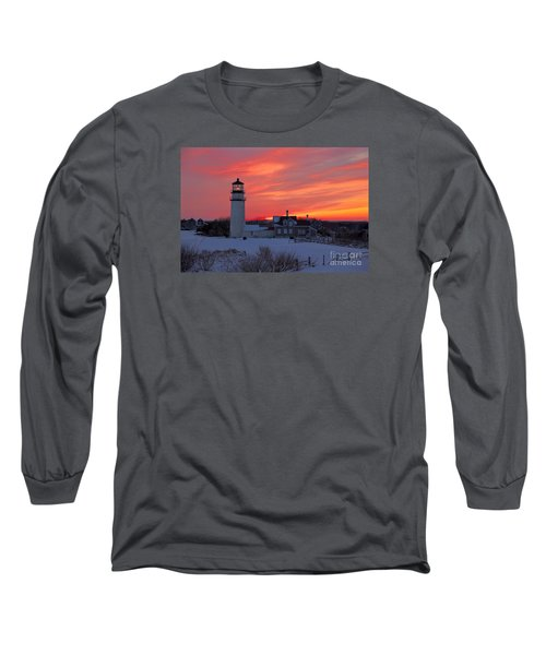 Long Sleeve T-Shirt featuring the photograph Epic Sunset At Highland Light by Amazing Jules