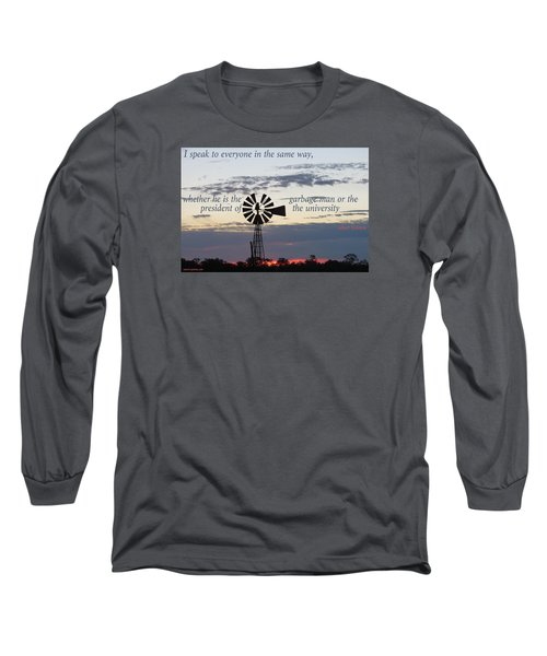 Equal In God's Eye Long Sleeve T-Shirt by David Norman