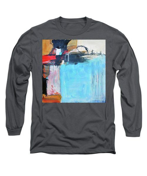 Long Sleeve T-Shirt featuring the painting Equalibrium by Ron Stephens