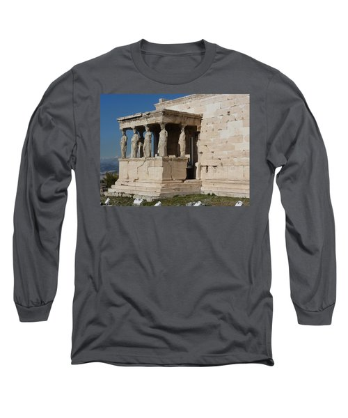 Erechteion With Nike Temple Long Sleeve T-Shirt