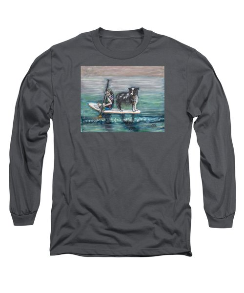 Erin And Oakie On The Paddle Board Long Sleeve T-Shirt