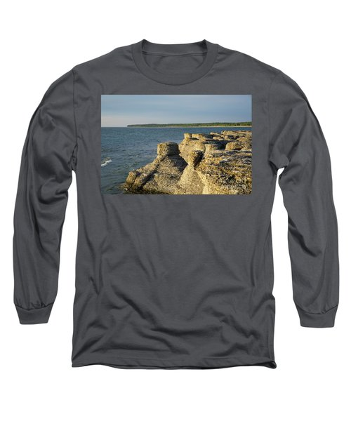Long Sleeve T-Shirt featuring the photograph Eroded Cliff Formations by Kennerth and Birgitta Kullman