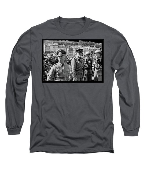 Erwin Rommel And Captured British Soldiers Tobruck Libya 1942 Color Added 2016  Long Sleeve T-Shirt