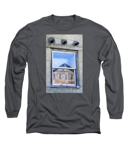 Long Sleeve T-Shirt featuring the photograph Estey Window Reflection by Tom Singleton