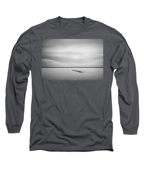Ethereal Long Exposure Of A Pier In The Lake Long Sleeve T-Shirt
