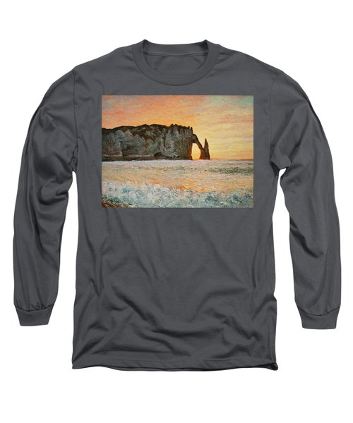 Etretat, Sunset  Long Sleeve T-Shirt