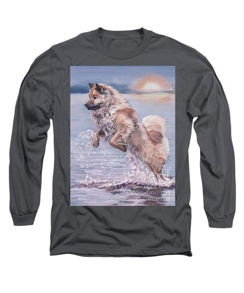 Long Sleeve T-Shirt featuring the painting Eurasier In The Sea by Lee Ann Shepard
