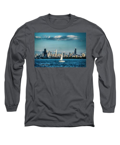 Evan's Chicago Skyline  Long Sleeve T-Shirt
