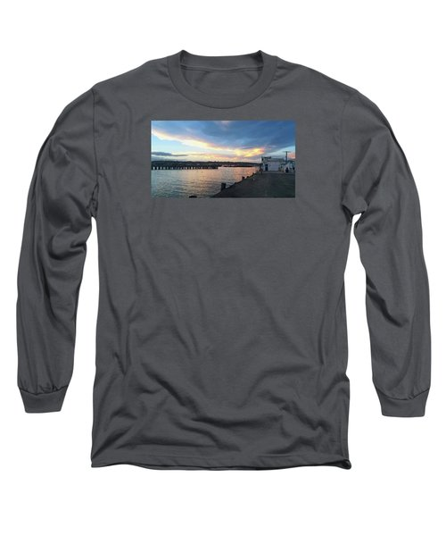 Long Sleeve T-Shirt featuring the photograph Evening At The Bay by Nareeta Martin