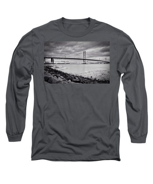 Evening At The Forth Road Bridges Long Sleeve T-Shirt by RKAB Works