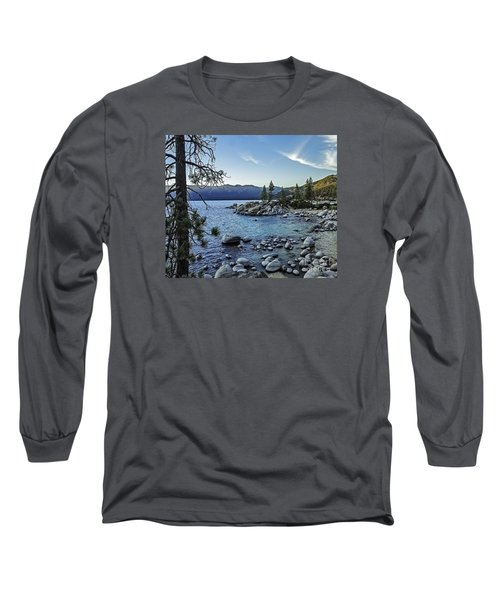 Evening At The Harbor-edit Long Sleeve T-Shirt