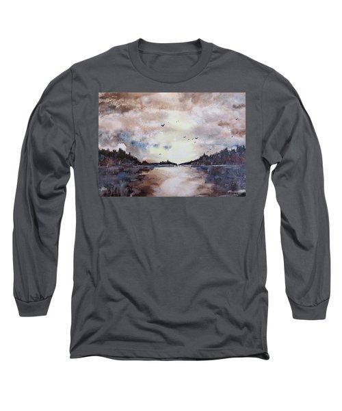 Evening Light Long Sleeve T-Shirt by Geni Gorani