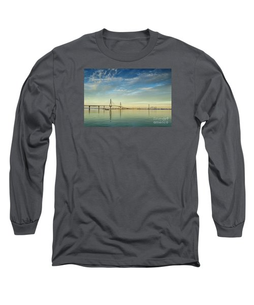 Evening Lights On The Bay Cadiz Spain Long Sleeve T-Shirt