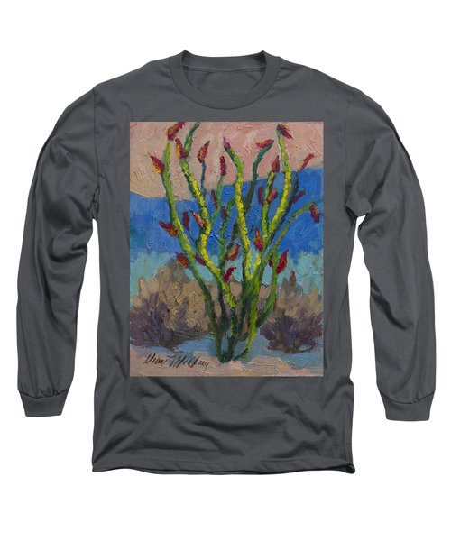 Evening Ocotillo Long Sleeve T-Shirt by Diane McClary