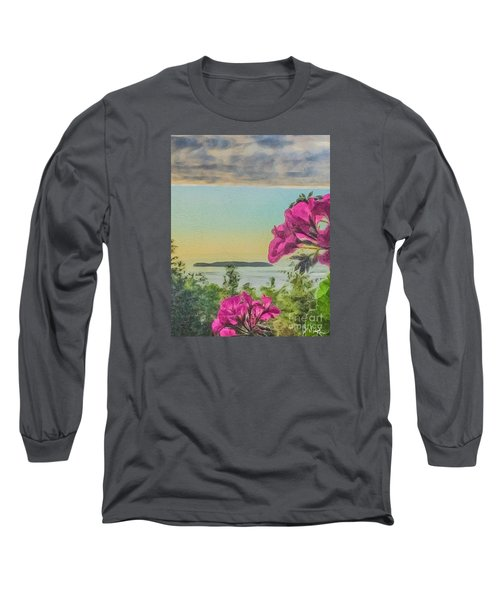 Islands Of The Salish Sea Long Sleeve T-Shirt by William Wyckoff