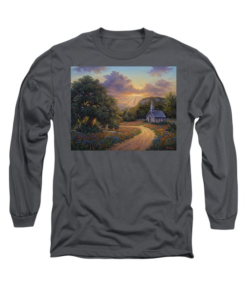 Long Sleeve T-Shirt featuring the painting Evening Praise by Kyle Wood