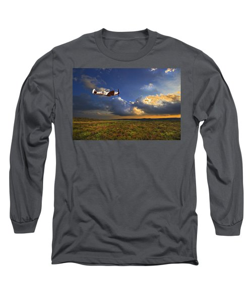 Long Sleeve T-Shirt featuring the photograph Evening Spitfire by Meirion Matthias