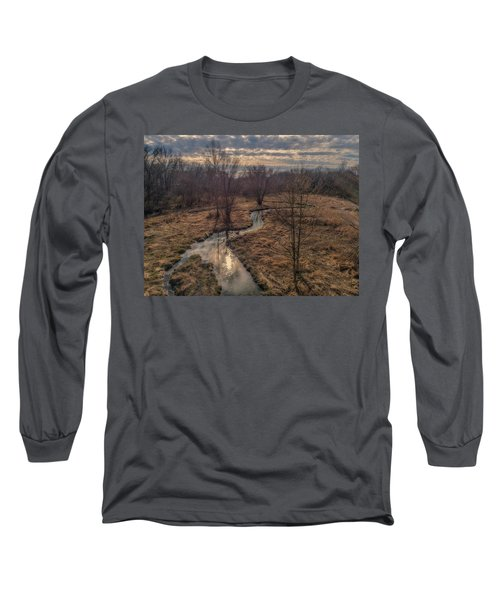 Evening Sun On The Creek Long Sleeve T-Shirt
