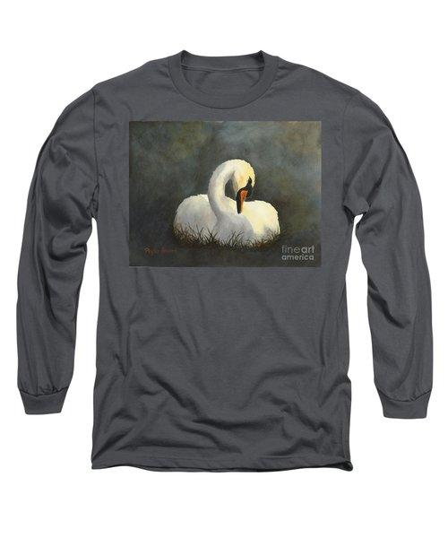 Evening Swan Long Sleeve T-Shirt