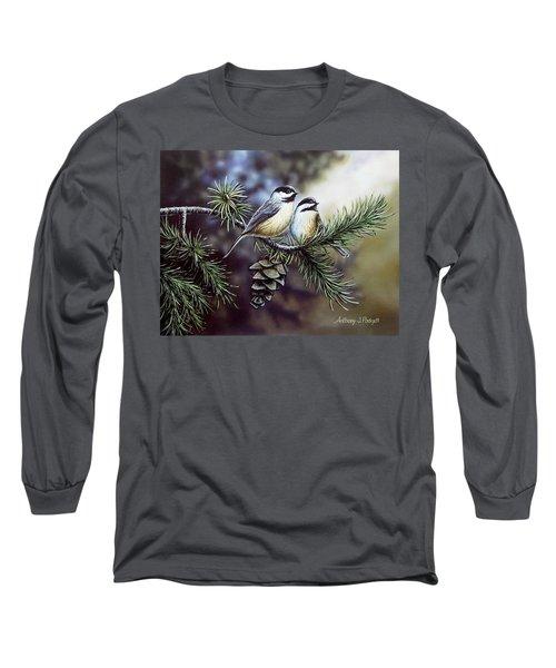 Evergreen Chickadees Long Sleeve T-Shirt