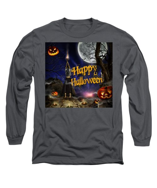 Evocation In Halloween Night Greeting Card Long Sleeve T-Shirt