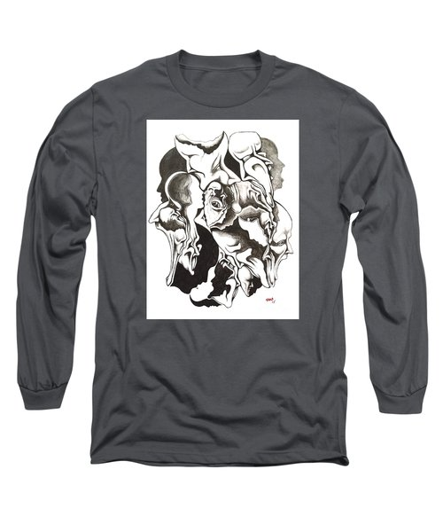 Evolution In Mind  Long Sleeve T-Shirt by Michael  TMAD Finney