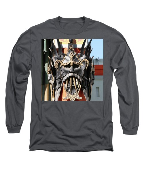 Exotic Chinese Mask Long Sleeve T-Shirt