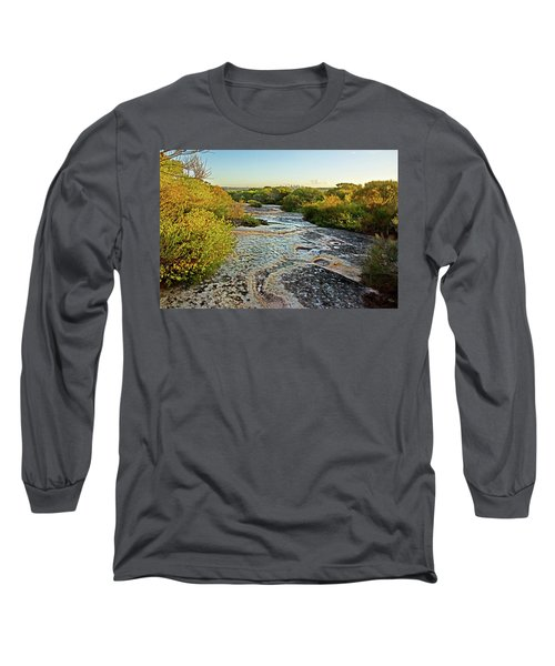 Long Sleeve T-Shirt featuring the photograph Exposed Sandstone In North Head by Miroslava Jurcik