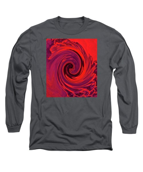 Eye Of The Honu - Red Long Sleeve T-Shirt by Kerri Ligatich
