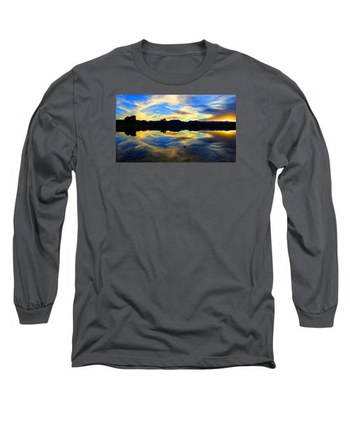 Eye Of The Mountain Long Sleeve T-Shirt by Eric Dee