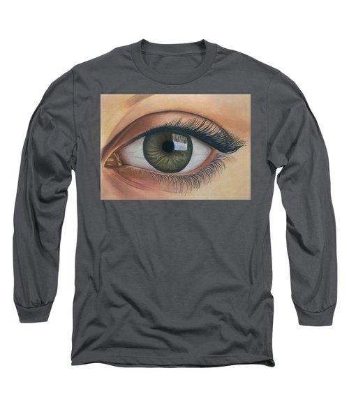 Eye - The Window Of The Soul Long Sleeve T-Shirt by Vishvesh Tadsare
