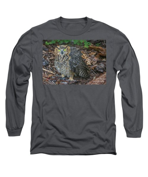 Eye To Eye With Owl Long Sleeve T-Shirt
