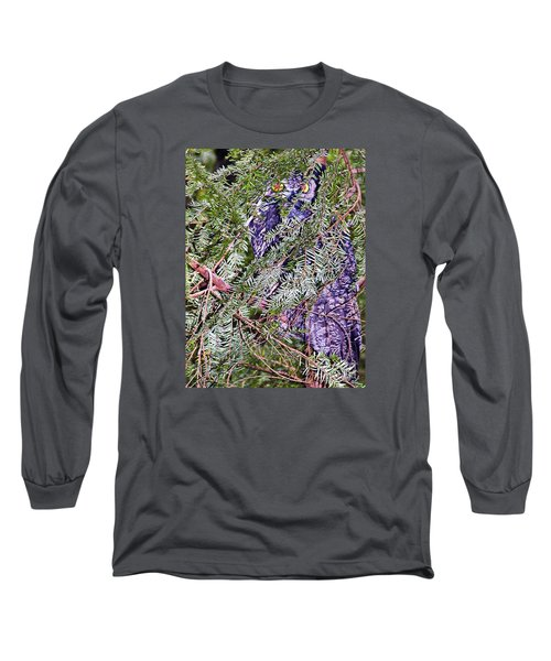 Eyes In The Forest Long Sleeve T-Shirt by Ansel Price