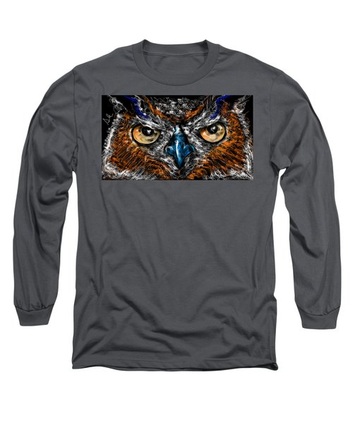 Eyes In The Night... Long Sleeve T-Shirt by Alessandro Della Pietra