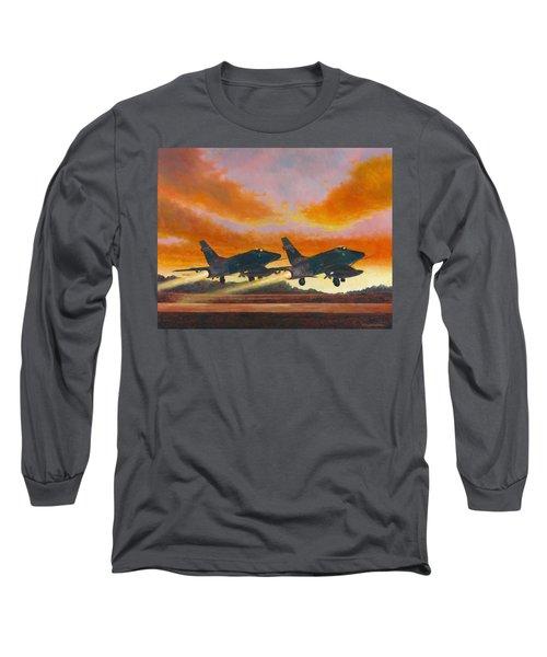 F-100d's Missouri Ang At Dusk Long Sleeve T-Shirt