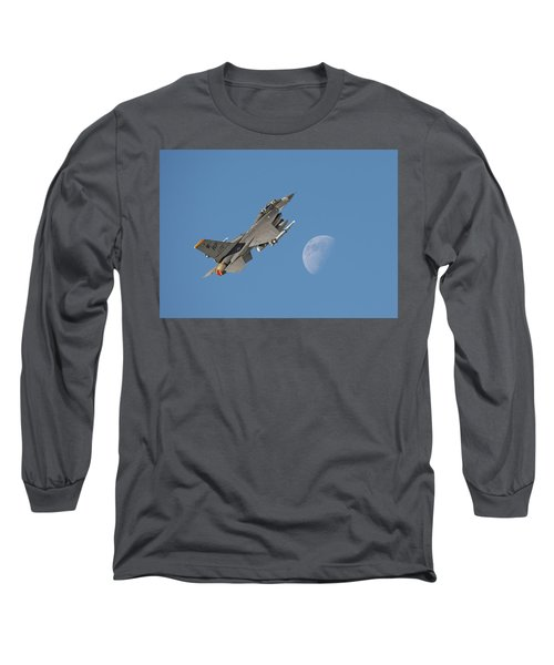 Long Sleeve T-Shirt featuring the photograph F16 - Aiming High by Pat Speirs