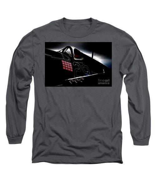 F4u Corsair Six Fifties Sixteen Kills Dark Long Sleeve T-Shirt