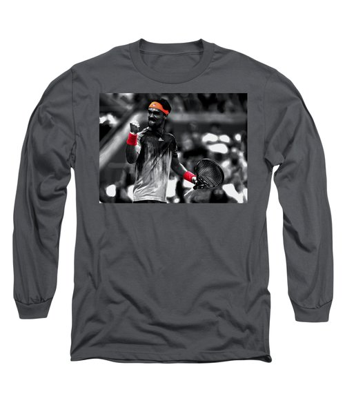 Fabio Fognini Long Sleeve T-Shirt by Brian Reaves