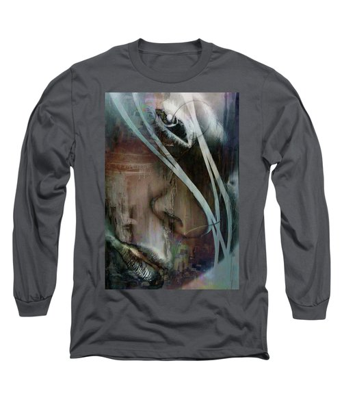 Long Sleeve T-Shirt featuring the digital art Face Pop by Greg Sharpe
