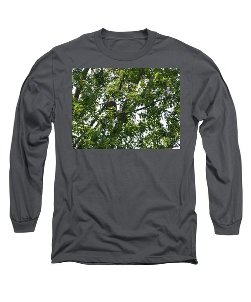Face The Eagle Long Sleeve T-Shirt by Donald C Morgan