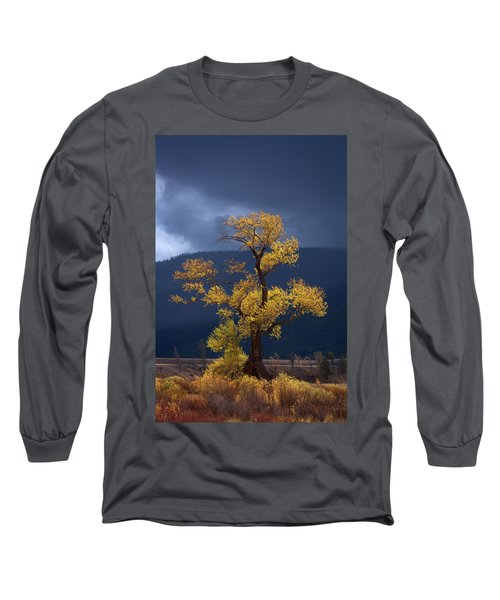 Facing The Storm Long Sleeve T-Shirt by Edgars Erglis