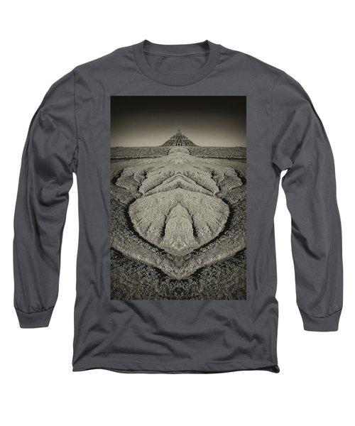 Factory Butte Digital Art Long Sleeve T-Shirt