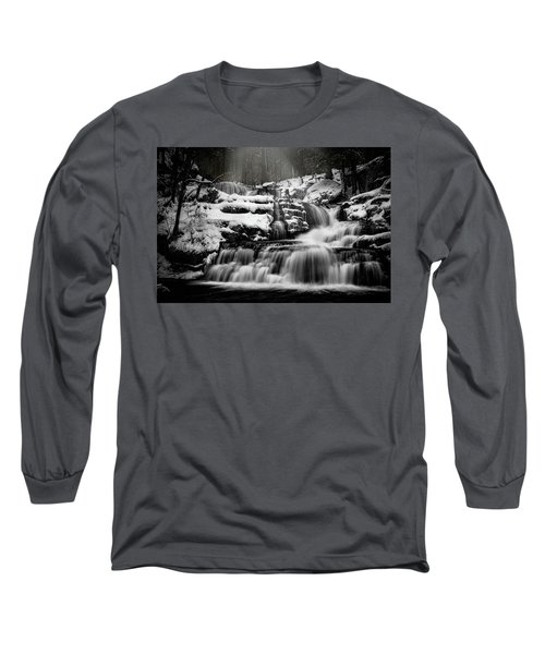 Long Sleeve T-Shirt featuring the photograph Factory Falls In Winter by Chris Lord