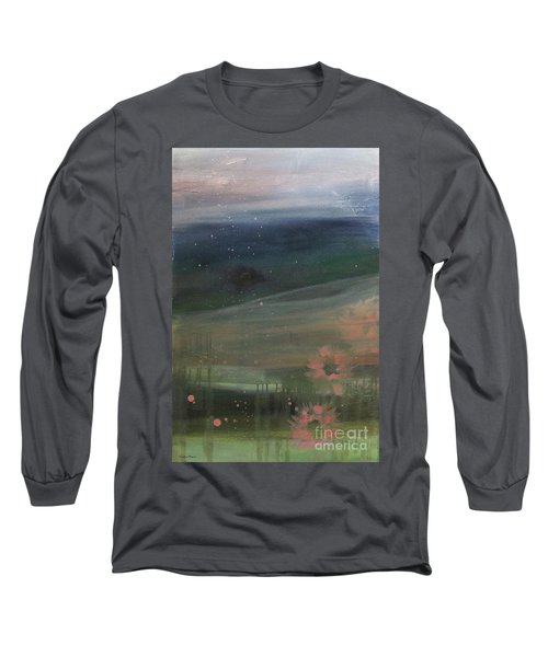 Long Sleeve T-Shirt featuring the painting Faded Days Gone By by Robin Maria Pedrero