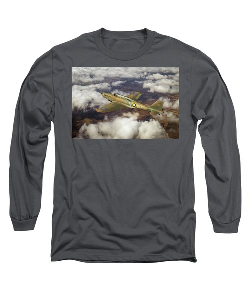 Long Sleeve T-Shirt featuring the photograph Fairey Battle In Flight by Gary Eason