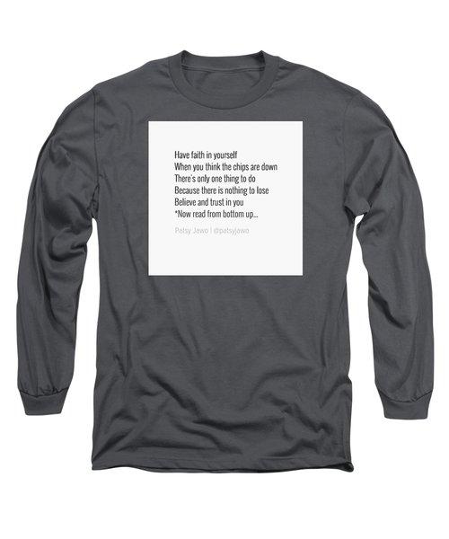 Faith Long Sleeve T-Shirt by Patsy Jawo