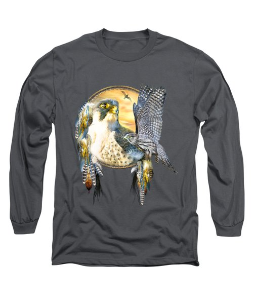 Falcon Dreams Long Sleeve T-Shirt by Carol Cavalaris