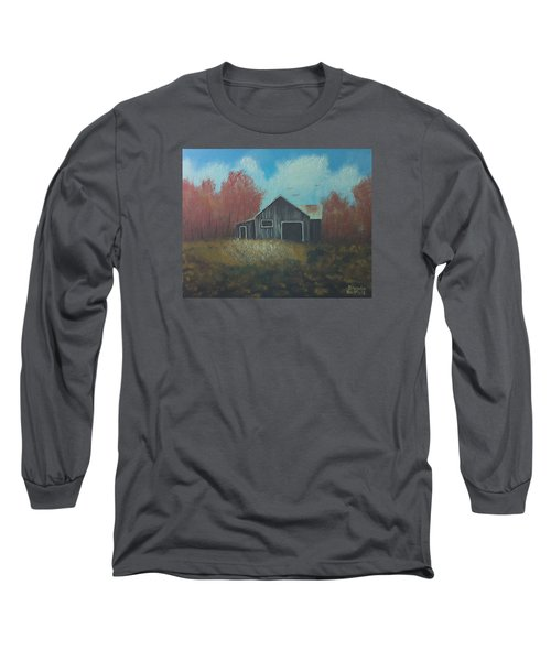Autumn Barn Long Sleeve T-Shirt by Brenda Bonfield