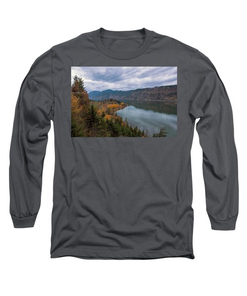 Fall Color At Ruthton Point In Hood River Oregon Long Sleeve T-Shirt